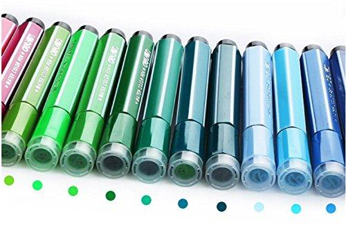 Farbiger Malstift 24 Farben Aquarell Stift Aquarell Filzstift mit Art Seal Waschbar Marker für Kinder (Red Box)