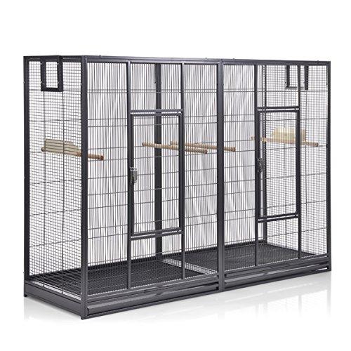 Montana Cages  | Vogelkäfig Melbourne 160 - Antik Doppelkäfig, Käfig XL, Voliere für Sittiche &...