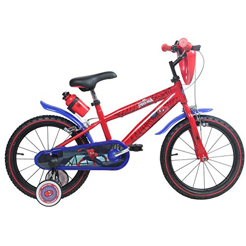 16 Zoll Marvel Spiderman Kinderfahrrad Fahrrad für Kinder ab ca. 4 Jahren