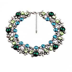 yonee exquis strass cristal cereated en costume Jewelry Colar femmes Chunky Collier