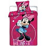 Jerry Fabrics - Parure de lit Minnie - JF0154 - Housse de couette rose réversible
