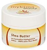 mykima 100% reine Shea Butter 100 ml aus kontrolliert biologischem Anbau.- gegen Hautalterung, trockene Hautpartien im Gesicht, Hals und Dekolleté