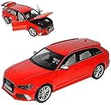 alles-meine.de GmbH Audi A6 RS6 C7 Avant Kombi Misano Rot Ab 2010 1/18 Minichamps Modell Auto