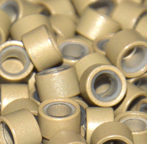 Lot de 100 mm, 4 mm, 4,5 mm, 5 mm Perles doublé Micro/anneaux en silicone pour extensions de cheveux