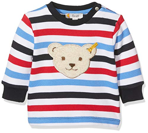 Steiff Baby-Jungen Sweatshirt Weiß (Bright White 1000) 62