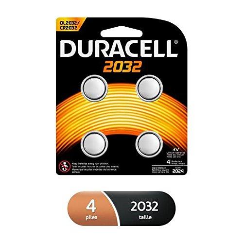 Duracell Specialty 2032 Lithium-Knopfzelle 3V, 4er-Packung CR2032 /DL2032 entwickelt für die Verwendung in Schlüsselanhängern