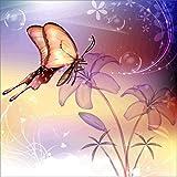 Riou DIY 5D Diamant Painting voll,Stickerei Malerei Diamant Runder Diamant Crystal Strass Stickerei Bilder Kunst Handwerk für Home Wall Decor gemälde Kreuzstich Bunter Schmetterling Bild Muster (Mehrfarbig C, 30*30cm)