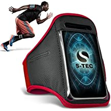 ALCATEL ONETOUCH IDOL ALPHA Armbands - ( Red ) Universal Sports Running Action Mobile Phone Armband Holder ( ALCATEL ONETOUCH ÍDOLO Brazaletes ALFA - ( rojo ) Deportes Universales Ejecutando acción Móvil Brazalete titular )