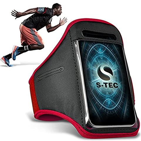 XIAOMI REDMI NOTE 2 Armbands - ( Red ) Universal Sports Running Action Mobile Phone Armband Holder ( REDMI XIAOMI NOTE 2 brassards - ( rouge ) Universal Sports exécutant Action Brassard Téléphone Mobile Holder )