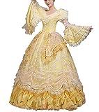 Nuoqi Damen Viktorianisch Kleid Palace Mittelalterliche Kleider Cosplay Kostüm Satin Gotisch Maskerade Kleidung (40, CC3253A-NI)