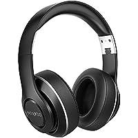 Kopfhörer Over Ear Bluetooth Kabellose Faltbare Headset HiFi Stereo mit Mikrofon 15 Stunden Spielzeit Weichem Memory Foam Ohrpolster 3,5 mm AUX für iPhone/Android