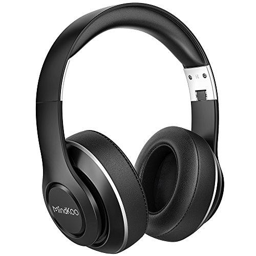 Kopfhörer Over Ear Bluetooth Kabellose Faltbare Headset HiFi Stereo mit Mikrofon 15 Stunden Spielzeit Weichem Memory Foam Ohrpolster 3,5 mm AUX für iPhone/Android thumbnail