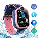 Jaybest Kinder SmartWatch Phone Waterproof Smartwatches mit SOS Voice Chat Kamera Taschenlampe Wecker Digitale Armbanduhr Smartwatch for Girls Boys Birthday