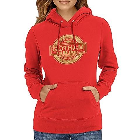TEXLAB - Gotham Logo - Damen Kapuzenpullover, Größe M, rot (Villain-kostüme Für Frauen)