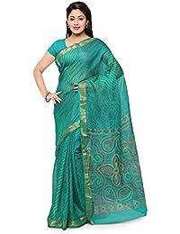 Rajnandini Women's Leheriya Bandhani Printed Kota Silk Cotton Saree(JOPLSRS1080__Free Size)