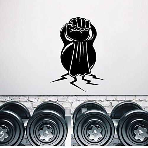 WENHAODJ Hantel Muscle Sports Gym Dekorative Wandaufkleber PVC Wohnzimmer Schlafzimmer Extreme Sports 43x59cm -