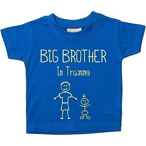 Großer Bruder in Training Blau T-shirt Baby Kleinkind Kinder Verfügbar in Größen von 0-6 Monate wird 14-15 Jahre Neu Baby Bruder Geschenk – Blau, 116