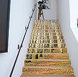 TIANTAI 13Piece 3D Treppe Sticker Weiße Birke Wasserdicht Schritt Wandaufkleber Wasserdicht Selbstklebend