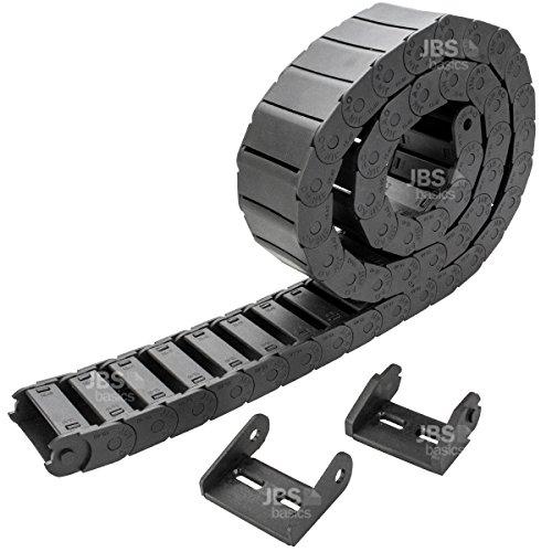 [ JBS basics ] Energiekette Schleppkette Kabelführung [ 15 x 40 mm ] R28 CNC 3D Drucker [ 100 cm / 1 Meter ] Plastik Drag Chain incl. Endstücke (15x40 mm)