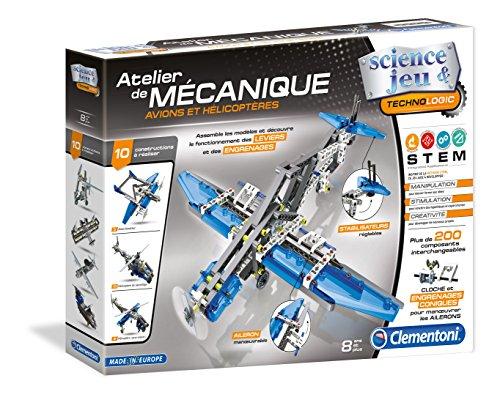 Clementoni-52225-Atelier-Mcanique-Avions-et-hlicoptres-Jeu-scientifique