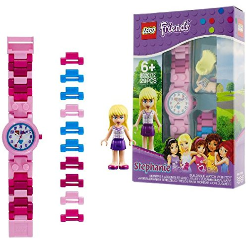 Reloj infantil modificable de Stephanie de LEGO Friends con pulsera por piezas...