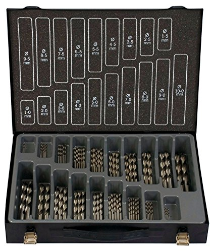 Projahn 60645 Coffret de 70 forets HSS-G Eco 5 forets 1,0-5,0 mm, 3 forets 5,5-7,5 mm, 2 forets 8,0-10,0 mm