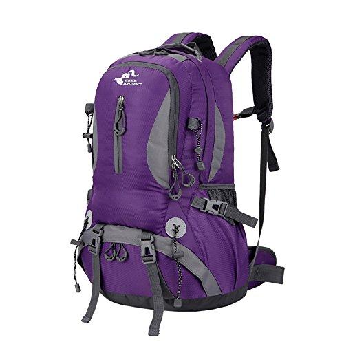 asiki 40L reißfest und wasserabweisend Sport Camping Wandern Rucksack Bergsteigen Rucksack Trekking Rucksack Reisen Violett