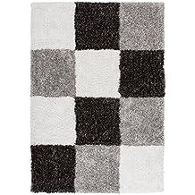 lalee y de alta calidad gansterer guemaj mano alfombra tipo shaggy de pelo cuadros