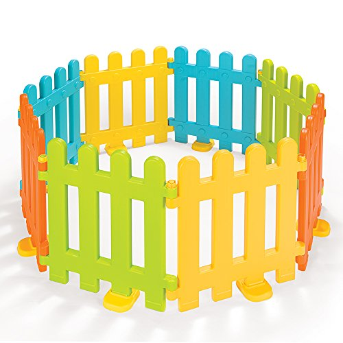 Siva Spielzaun Kinderzaun, 8 Elemente | Laufgitter und Absperrgitter für drinnen und draußen