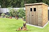 Gartengerätehaus Pöchlarn - 1,30 x 2,35 Meter aus 19mm Blockbohlen