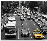 Wallario Herdabdeckplatte/Spritzschutz aus Glas, 2-teilig, 60x52cm, für Ceran- und Induktionsherde, New York Yellow Taxi I