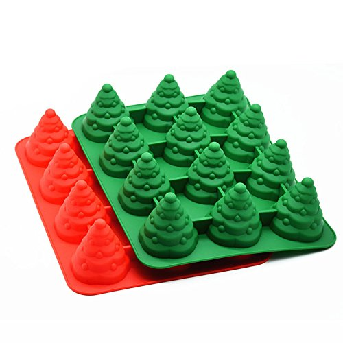 Zantec 12 Cavity Form Backen Kuchen Form Weihnachtsbaum Silikon Kuchen Form Form Backen Schimmel Kuchen Cupcake Liner Muffin Cups für Chocklate Candy Jelly
