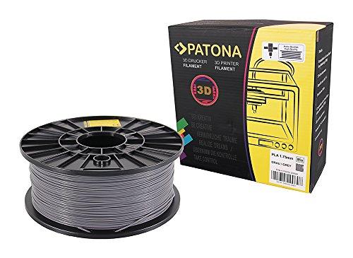 Patona 3D Printer Filament PLA grau (Spule / 1Kg / 1,75mm)