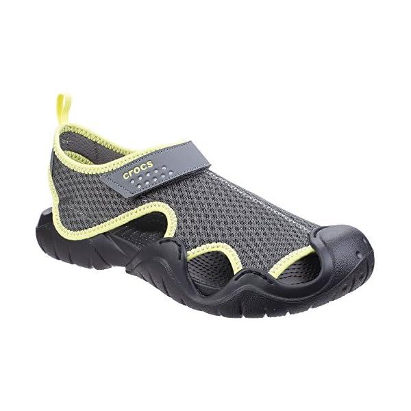 Crocs Swiftwater Sandal M, Zapatos de Agua para Hombre, Negro (Black/Volt Green), 49/50 EU
