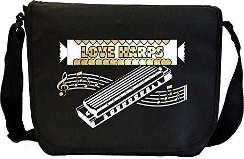 Harmonica-Love-Harps-Sheet-Music-Document-Bag-Musik-Notentasche-MusicaliTee