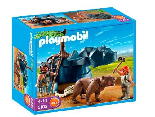 Playmobil - Edad Piedra Cavernícola con Oso 5103