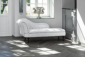 Méridienne en cuir haut de gammeCette méridienne vous offrira non seulement un large espace de détente mais apportera également une touche d'élégance à votre intérieur pour valoriser votre pièce à vivre. Dans un style classique et intemporel ce récam...