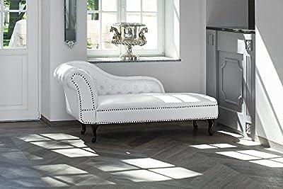 Méridienne chesterfieldCette chaise longue est un ajout intemporel à toute salle de séjour, offrant un endroit parfait pour salon sur ses courbes, forme large. Rembourré et recouvert de simili cuir brillant, elle dispose d'un motif classique du ches... [Méridienne]