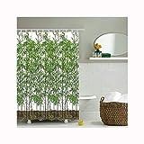 AnazoZ Anti-Schimmel Duschvorhang inkl. 12 Duschvorhangringe Anti-Bakteriell Wasserdicht Waschbar Badewanne Vorhang für Badzimmer - Stil 1 165x180cm