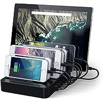 Satechi USB Ladestation mit 7Ports für iPhone 7Plus/7/6Plus/6/5S/5C/5/4S, iPad Pro/Air/Mini/3/2/1, Samsung Galaxy S6EDGE/S6/S5/S4/S3/Note/Note2/Tab, iPod, Nexus, HTC, und mehr (schwarz)