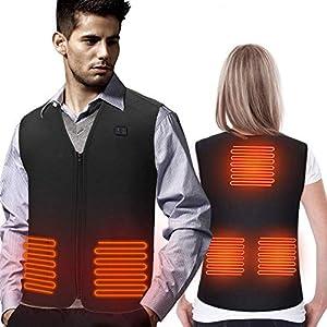 Eayse Beheizte Weste – Elektrische Beheizte Jacke USB Lade Heizweste,Warme Heat Jacke mit 3 Fakultativ Temperatur für…