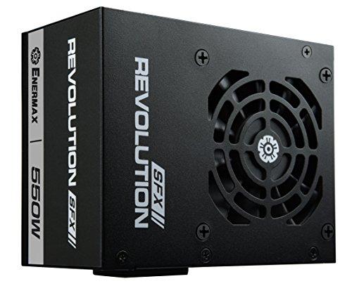 Enermax revolution sfx 550w erv550swt alimentatore pc sfx 550w, 80 plus gold, totalmente modulare nero