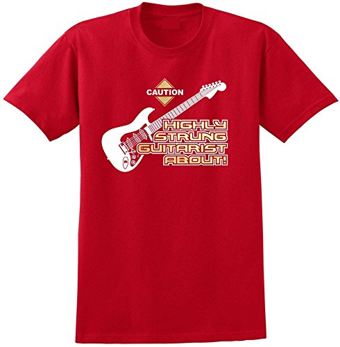 Electric Guitar Highly Strung - Red Rot T Shirt Größe 87cm 36in Small MusicaliTee (Prs Picks)