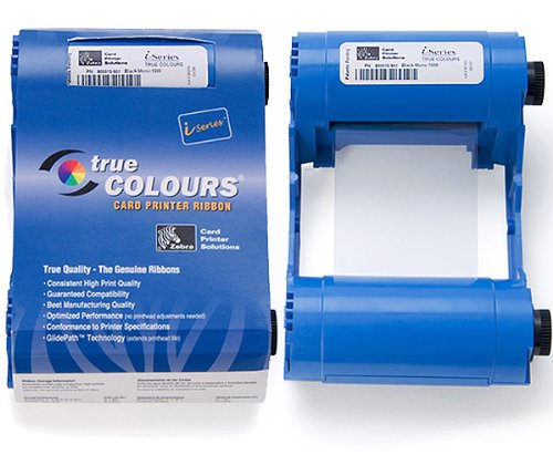Zebra Color Ribbon YMCKO - Cinta de impresoras matriciales (Transferencia térmica, 200...