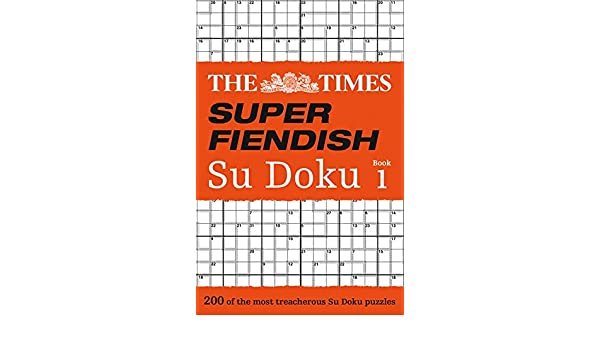Buy The Times Super Fiendish Su Doku Book 1 Book Online at Low
