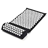 Yoga Mat and Pillow,KING DO WAY Acupressure Relax Massage Mat Healing Stress Relieving Acupressure Bed of Nails Mat Suite with Pillow