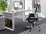 möbelando Schreibtisch Arbeitstisch Bürotisch Arbeitsplatz Computertisch Tisch Hamburg I Beton
