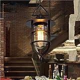 SSBY im amerikanischen stil, der wind, vintage - kronleuchter, kreativ - restaurant, einhändig kronleuchter, käfig, glas kamin hängen, einfache dekorativen speisesaal kronleuchter