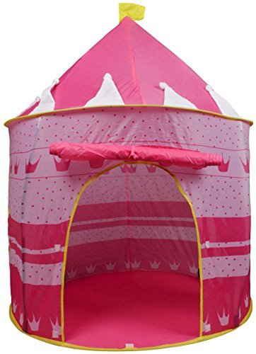 Portable Pink Folding Play Tent Kids Girl Princess Castle Fairy Cubby House New by New Unbrand