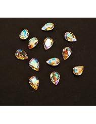Sindy 5Pcs Ovale Gemme Plein de Cristal de Bijoux Accessoire Nail Art 3D Décoration Ongle